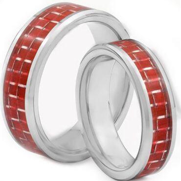 COI Titanium Carbon Fiber Beveled Edges Ring - JT2719