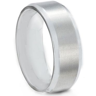 *COI Titanium Beveled Edges Wedding Band Ring - JT2775AA
