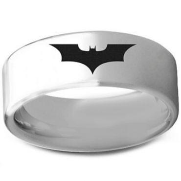 COI Titanium BatMan Pipe Cut Flat Ring - 3236