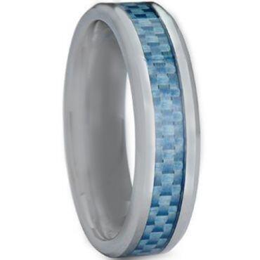 COI Titanium Carbon Fiber Beveled Edges Ring - JT3708
