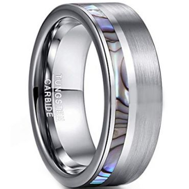 COI Tungsten Carbide Ring With Abalone Shell  - TG3755CCC