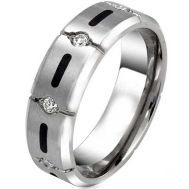 COI Tungsten Carbide Cubic Zirconia Ring-TG3781