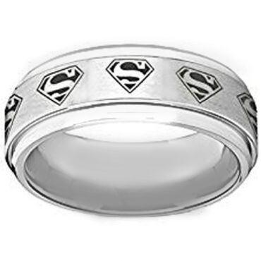 *COI Titanium Superman Step Edges Ring - JT4032