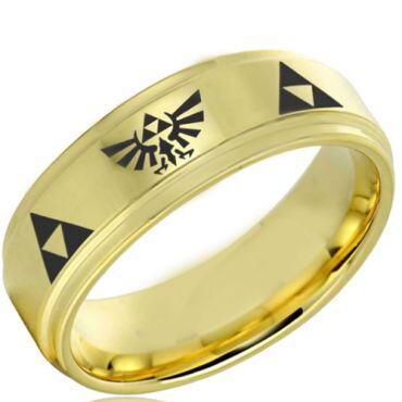 COI Gold Tone Tungsten Carbide Legend of Zelda Ring-4050