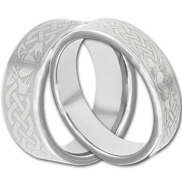 COI Tungsten Carbide Mo Anam Cara Celtic Ring - TG4292