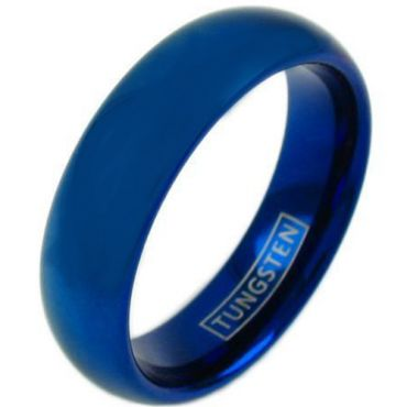 COI Blue Tungsten Carbide Dome Court Ring - TG4420
