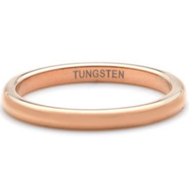 COI Rose Tungsten Carbide Dome Court Ring - TG4482