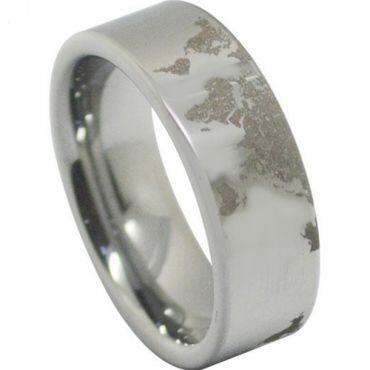 COI Tungsten Carbide Map Pipe Cut Ring - TG4556