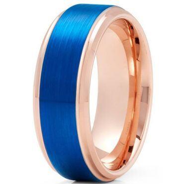 *COI Titanium Pink Blue Step Edges Ring - JT3895BBB