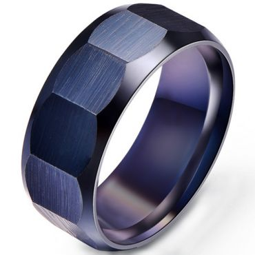 COI Black Titanium Faceted Ring-5280