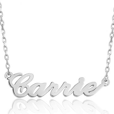 COI Titanium Custom Name Pendant With Stainless Steel Necklace-5310