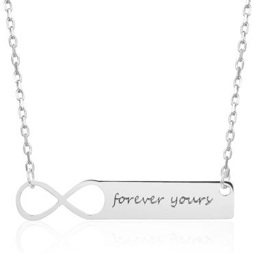 COI Titanium Infinity Custom Name Pendant With Stainless Steel Necklace-5313