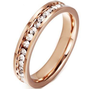 COI Rose Titanium Ring With Cubic Zirconia-5544