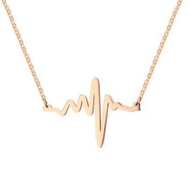 COI Rose Titanium Heartbeat Necklace-JT5651