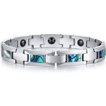 *COI Tungsten Carbide Bracelet With Mother of Pearl-TG5768