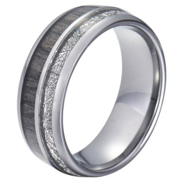 COI Tungsten Carbide Deer Antler and Meteorite Dome Court Ring-TG5775