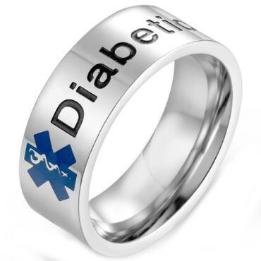 *COI Titanium Medic Alert Ring With Custom Engraving-5975