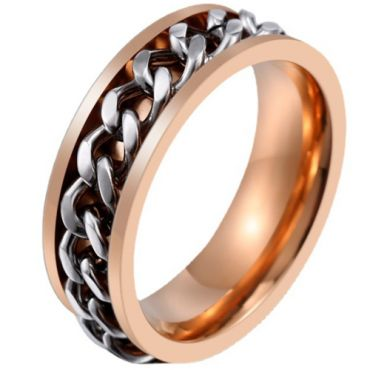 *COI Titanium Silver Rose/Rainbow/Blue/Black/Gold Tone Key chain Link Ring-6030