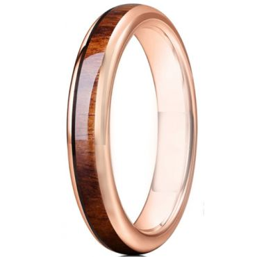 **COI Rose Titanium Dome Court Ring With Wood-6927