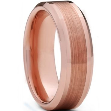 **COI Rose Titanium Polished Matt Beveled Edges Ring-6937