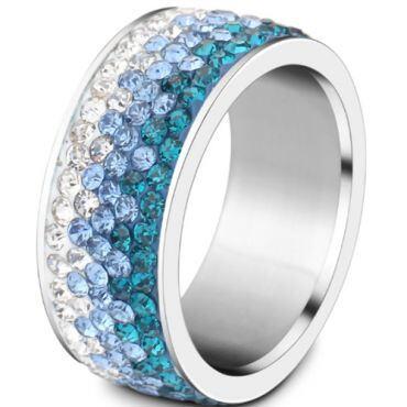**COI Titanium Ring With Cubic Zirconia-7006