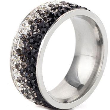 **COI Titanium Ring With Cubic Zirconia-7007
