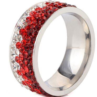 **COI Titanium Ring With Cubic Zirconia-7008