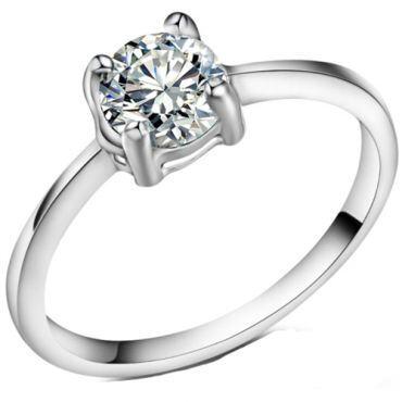 **COI Titanium Solitaire Ring With Cubic Zirconia-7014