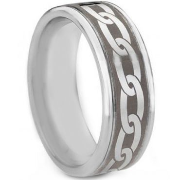 **COI Tungsten Carbide Celtic Step Edges Ring - TG763AA