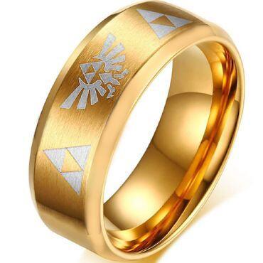 COI Gold Tone Tungsten Carbide Legend of Zelda Ring-806