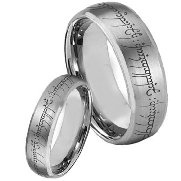 COI Tungsten Carbide Lord of The Ring Ring - 853