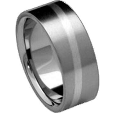COI Titanium Pipe Cut Flat Ring - JT030(Size:US9/11.5)