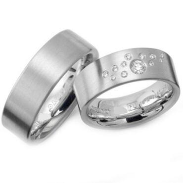 COI Titanium Couple Wedding Band Ring - JT1268(Size US7)