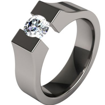 COI Black Titanium Ring - JT1422A(Size:US12)