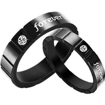 COI Black Titanium Forever Ring - JT1432(Size:#US6)