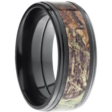 COI Black Titanium Camo Ring - JT2698(Size:US3/13)