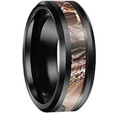 COI Black Titanium Camo Ring - JT2700(Size:US7/7.5/10)