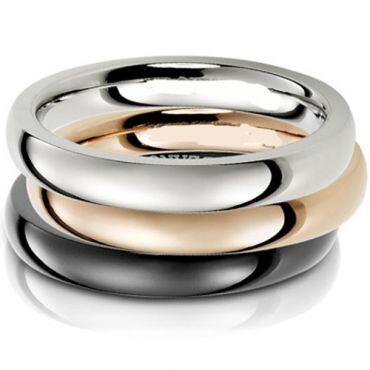 COI Titanium Dome Wedding Band Ring - JT2751(Size:US7.5)