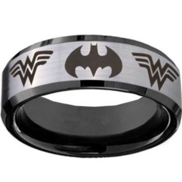 COI Titanium Batman & Wonder Woman Ring - JT3234(Size US11.5)