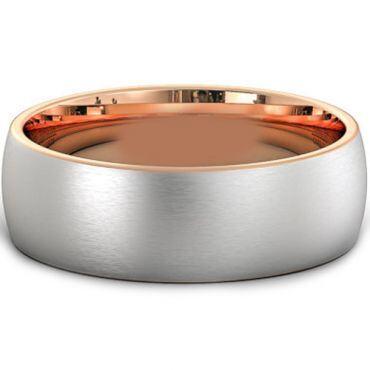 *COI Titanium Rose Silver Dome Court Ring - JT3310