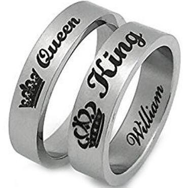 *COI Titanium King Queen Crown Pipe Cut Flat Ring - JT4096