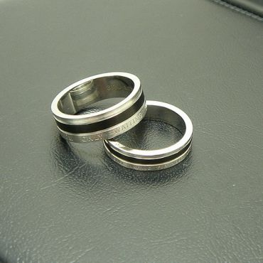 COI Titanium Only waiting for you Ring - JT955(SIZE:#US6)