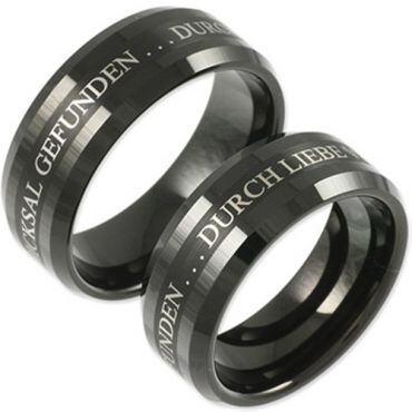 COI Black Tungsten Carbide Custom Engraving Ring-TG159A