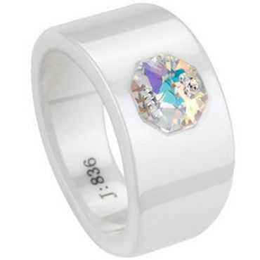 (Limited Offer!)COI Ceramic Ring With CZ-TG1742(#US6/8.5)