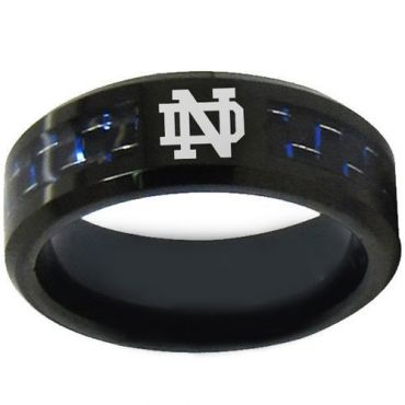 COI Black Titanium Ring With Custom Logo Engraving - 1753