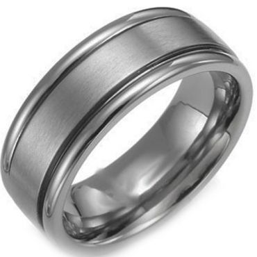 *COI Titanium Double Grooves Ring - JT3519AA