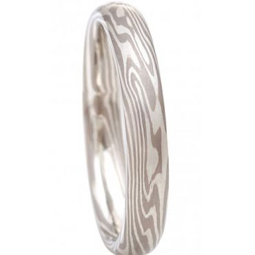 COI Tungsten Carbide Damascus Dome Court Ring - TG2018