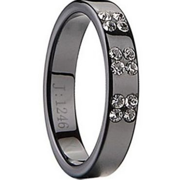 (Limited Offer!)COI Black Tungsten Carbide Ring-TG2042(US3)
