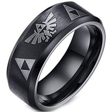 COI Black Tungsten Carbide Legend of Zelda Ring - TG2061A