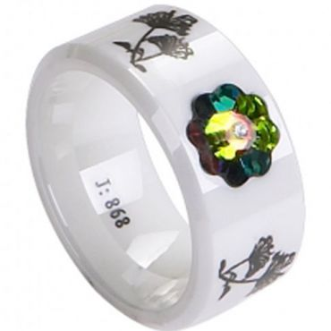 (Limited Offer!)COI Ceramic Ring with CZ-TG2263(US8)